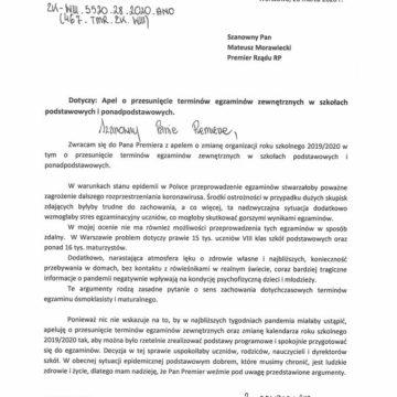 Trzaskowski prosi rząd RP o przesunięcie terminów egzaminu ośmioklasisty i matur