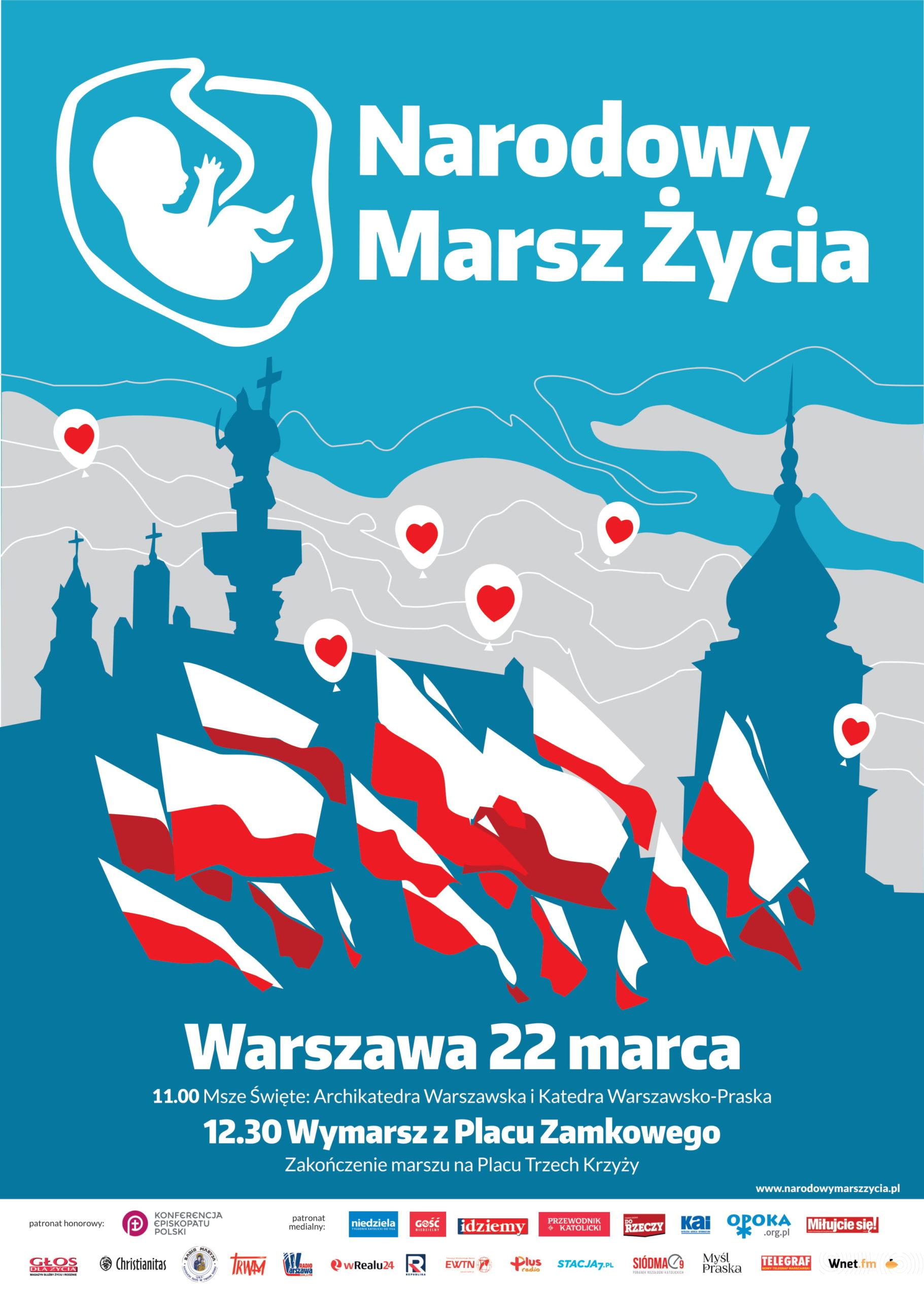 Narodowy Marsz Życia - 22 marca 2020 r. - Warszawa