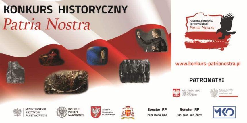 V edycja konkursu historycznego – Patria Nostra – zaproszenie