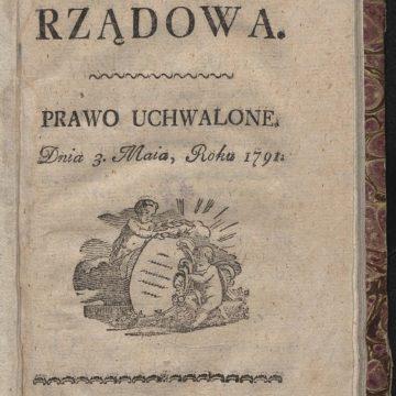 Ustawa Rządowa z dnia 3 maja roku 1791