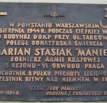 Oświadczenie – plut. Marian Stasiak PS. Maniek