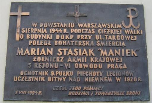 Oświadczenie - plut. Marian Stasiak PS. Maniek
