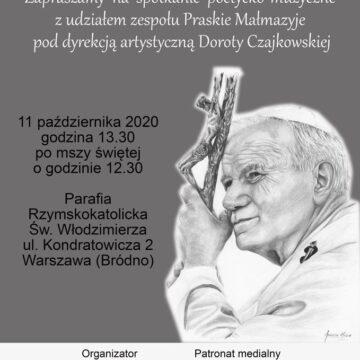 """""""Ojcu Świętemu śpiewajmy"""" – 11 października 2020 r."""